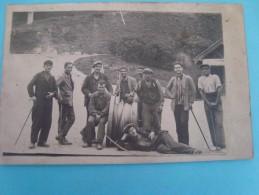 31 - Luchon - Carte Photo - Ouvriers Avec Un Rouleau De Câble - Luchon