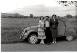 AUTOMOBILE.PHOTO. 2 CV CITROEN . RETIRAGE Sur PAPIER KODAK.2 PHOTOS. - Automobiles