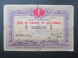BILLET BELGIQUE (V1618) BON DE CAISSE 1 Franc (2 Vues) Commune D'ANDRIMONT 1914 - Altri