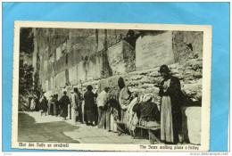 PALESTINE -judaica-JERUSALEM-un Vendredi Murs Des Juifs  -années 1910-20 - Palestine