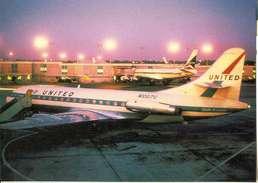 Aviation Postcard-051-UNITED AIRLINES Caravelle - 1946-....: Moderne