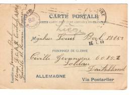 Guerre-Ootrlog 14-18 CP écrite De Graville V.prisonnier Civil à Soltau Censure PR3728 - WW I