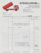 BELGIË/BELGIQUE :1985: Factuur Van ## STEKELORUM P.b.v.a., Elzendamme, Vleteren ## Aan ## Valcke & Zoon N.V., ... ## - Transport