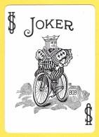 Joker  : Roi Sur Vieux Vélo Noir Et Blanc : Nombre 808 Sur La Borne - Verso Rouge - Speelkaarten