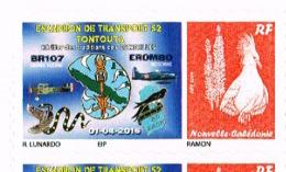 Nouvelle Caledonie Timbre Personnalisé Autocollant Privé Escadron Transport 52 Tontouta Avion Serpent 2016 Neuf - Non Classificati