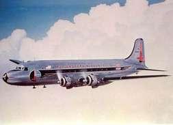 Aviation Postcard-061  FLY EASTERN AIRLINES Douglas DC-4 - 1946-....: Moderne