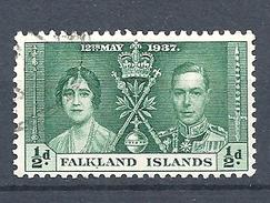 FALKLAND ISLANDS 1937 Coronation Of King George V And Queen Elizabeth  USED - Falkland