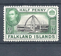 FALKLAND ISLANDS 1938 King George VI - Local Motives  HINGED - Falkland