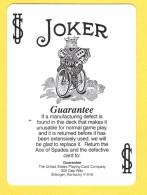 Joker  : Roi Sur Vieux Vélo Noir Et Blanc, Guarantee, Garantie - Verso Rouge - Speelkaarten