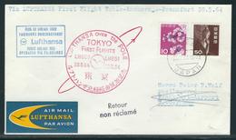 Lufthansa First Flight Tokio-Anchorage-Frankfurt 28.5.64 - Airmail
