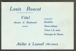 70 - Haute-Sâone - Luxeuil Dentelles Tricots Ouvrages De Dames Louis Boucot - Cartes De Visite