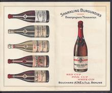 """FR - """" Bouchard Aîné & Fils Beaune """" Carte Publicitaire Grands Bourgognes - - Werbung"""