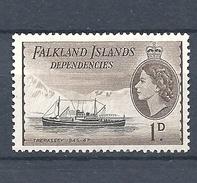 "FALKLAND ISLANDS DEPENDENCIES   1954 Ships     MNH    ""Trespassey"" - Falkland"
