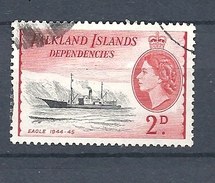 "FALKLAND ISLANDS DEPENDENCIES   1954 Ships     USED   ""Eagle"" - Falkland"