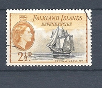 "FALKLAND ISLANDS DEPENDENCIES   1954 Ships     USED   ""Penola"" - Falklandinseln"