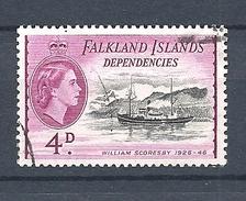 "FALKLAND ISLANDS DEPENDENCIES   1954 Ships     USED  ""William Scoresby"" - Falkland"