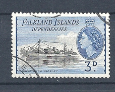 "FALKLAND ISLANDS DEPENDENCIES   1954 Ships     USED  ""Discovery II"" - Falkland"