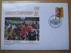 Belgium Fdc 2000-06-17 European Championschip 2000 England - Germany 1-0 Charleroi Postmark - Eurocopa (UEFA)