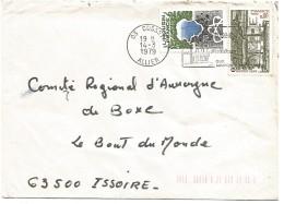 AFFRANCHISSEMENT COMPOSE SUR LETTRE DE CUSSET (ALLIER) 1979 - Marcophilie (Lettres)