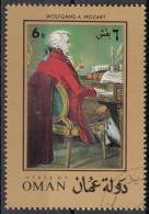 626 Oman 1972 Ritratto Di Wolfgang Amadeus Mozart Al Pianoforte Musica Paintings - Oman