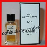 CHANEL : N° 19, Miniature De Collection. Eau De Toilette,  4ml,  Avec Sa Boite,  Parfait état - Miniatures Modernes (à Partir De 1961)
