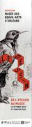 MARQUE-PAGE MARQUE-PAGES  MUSEE BEAUX-ARTS D'ORLEANS  DE L'ATELIER AU MUSEE OISEAU 2015 / 2016 - Marque-Pages