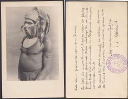 Papua Fotokarte Dankeskarte Von Leipziger Mission Für Briefmarkensammlerin Missionsfeld Neuguinea - Papua New Guinea