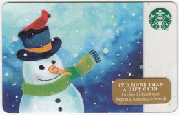 USA - Snowman, Starbucks Card, CN : 6127, Unused - Gift Cards