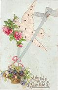 Carte Postale Ancienne Fantaisie - Oiseaux - Ajoutis - Chromos - Témoignage D'amitié - Fantaisies