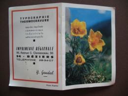 Calendrier - Année 1968 - Mini-calendrier Publicitaire Imprimerie Béziers - Photo Eigstler - Calendriers