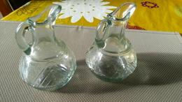 2 FLACONS En VERRE HUILIER Et VINAIGRIER 10cm Hauteur - Sans Bouchons - Dishware, Glassware, & Cutlery