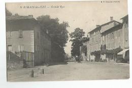 71 Saint Romain Des Iles Grand'Rue Animée Attelage - Non Classificati