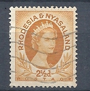 RHODESIA & NYASALAND 1954 Queen Elizabeth II USED - Rhodesia & Nyasaland (1954-1963)