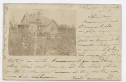Vigneux Sur Seine, Essonne, Seine Et Oise,maison,1900, Timbre,Sage 5c, Cachet à Cercle Pointillé, La Rochelle - Vigneux Sur Seine