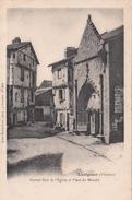 G , Cp , 86 , LUSIGNAN , Portail Sud De L'Église Et Place Du Marché - Lusignan