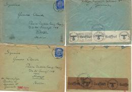 GERMANIA GERMANY DEUTSCHES REICH 2 COVERS 1940 DRESDEN To FIRENZE NAZI CENSOR - Briefe U. Dokumente