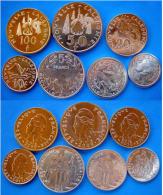 NEW CALEDONIA  2008-20011  SET 7 PZ  100-50-20-10-5-2-1 FRANCS FDC UNC - Nueva Caledonia
