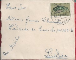 Letter Circulated Beira/Lisboa 1953.Stamp Fish Abalistes Stellaris,Starry Triggerfish. Rare. - Mozambique