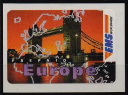 """Suisse 1997  Timbre EMS Auto-adhésive """"PREPAID EUROPE"""" Vue De La Tour De Londres , 1 Val MNH - Switzerland"""