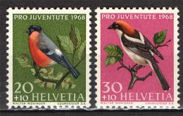 SVIZZERA - 1968 - PRO JUVENTUTE - UCCELLI - BIRDS - NUOVI MNH - Suiza