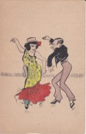 POSTAL DE UNA SEVILLANA BAILANDO (SEVILLA-BAILE-ANDALUCIA) - Bailes