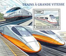 Burundi  Block  Hochgeschwindigkeitszüge   ** / MNH - Trains