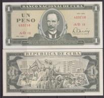 1985-BK-33 CUBA 1985 1$ JOSE MARTI UNC. - Cuba