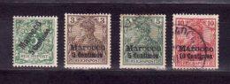Allemagne   Bureau Maroc    N°2, 7, 8, 9     Oblitérés - Bureau: Maroc