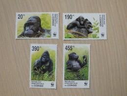 WWF Congo - Kinshasa 2002 -  Grauer's Gorilla - Unused Stamps