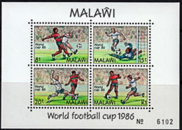 C0216 MALAWI 1986, SG MS750 World Cup Football Championships,  MNH - Malawi (1964-...)