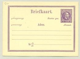 Nederlands Indië - 1874 - 5 Cent Willem III, Briefkaart G1a - Indes Néerlandaises