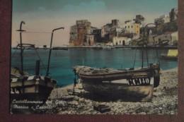 CASTELLAMARE DEL GOLFO - -1958   - MARINA  E  CASTELLO  -    BELLISSIMA - Italia