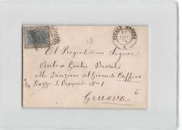 B411 FINALE EMILIA X GENOVA - 1875 - 1861-78 Victor Emmanuel II