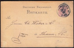 Germany Hamburg  25. 5. 1880 / Deutsche Reichpost Postkarte - Covers & Documents
